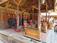 The temple gamelan. So cool.