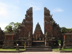 "The classic ""split gate"" (candi bentar) at Balinese temples opens from the temple complex onto the outside world."