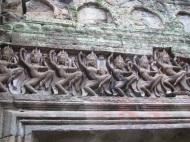 Apsara dancer carvings at Preah Khan.