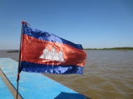 On the Tonle Sap lake.