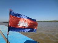 On the Tonle Sap lake.
