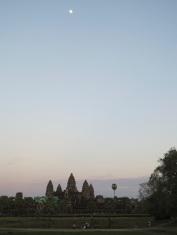 Angkor Wat. Moonrise. Nice.
