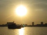 Sunset over Phnom Penh.
