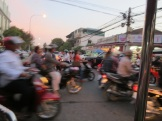 We were told that there are traffic laws in Phnom Penh. I think there's actually only one, though: do what you have to. Seriously, most intersections have no traffic lights, so light anarchy is the status quo.