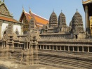 A huge model of Angkor Wat at the palace.