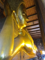 Wat Pho, home of this giant reclining Buddha.