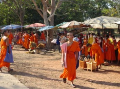 Even Buddhist monks need trinkets and ice cream.