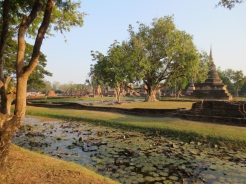 Sukhothai: the moat around the Wat Mahathat complex, believed to represent the cosmic ocean and thus the outer reaches of the universe.