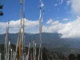 Prayer flags and Himalayas.