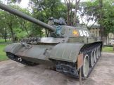 A replica of the tank that crashed through the palace gates on April 30, 1975.