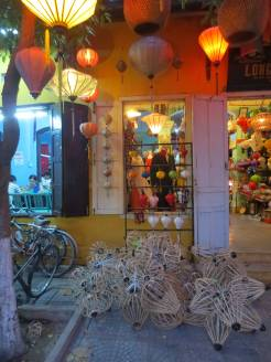 Hoi An is famous for these beautiful bamboo lanterns. Here they are as works-in-progress.
