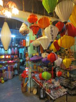 The inside of the lantern shop.