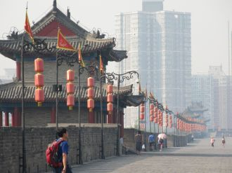 Lovely decorations, slightly less lovely haze of pollution.